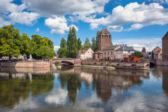 Bridge Ponts Couverts the historic district Petite France, Strasbourg Stock Photo