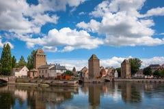Bridge Ponts Couverts the historic district Petite France, Strasbourg Stock Photos