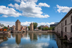 Bridge Ponts Couverts the historic district Petite France, Strasbourg Stock Images