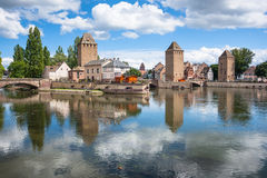 Bridge Ponts Couverts the historic district Petite France, Strasbourg Royalty Free Stock Photo