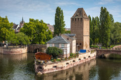 Bridge Ponts Couverts in the Strasbourg Royalty Free Stock Photography