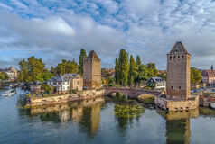 Bridge Ponts Couverts, Strasbourg Stock Images