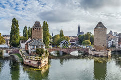 Bridge Ponts Couverts, Strasbourg Stock Photography