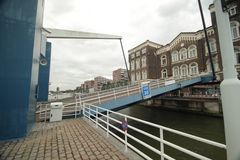 Bridge at the Poort building in Rotterdam for the Entrepothaven is opening Royalty Free Stock Image