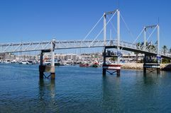 A bridge in the port of Lagos - The South of Portugal - Grip Taking of view sight outside, without character and of day. Europe Royalty Free Stock Photography