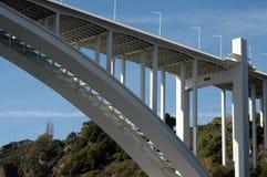 Bridge in porto. Modern architecture of a bridge in Porto, Portugal Royalty Free Stock Photography