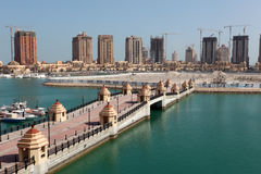Bridge in Porto Arabia, Doha Royalty Free Stock Photos