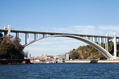 Bridge in Porto, Portugal. Royalty Free Stock Images