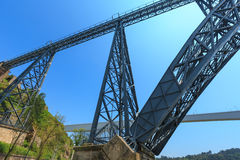 Bridge in Porto, Portugal. Royalty Free Stock Photography