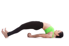 Bridge Pose (dvi pada pithasana) Stock Photography