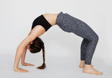 Bridge pose of sporty woman Royalty Free Stock Images