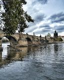The Charles bridge royalty free stock photography