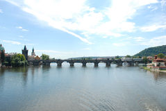 Bridge in Prague. Bridge over the river in Prague Royalty Free Stock Photography