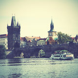 Bridge in Prague Royalty Free Stock Photos
