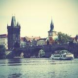 Bridge in Prague Royalty Free Stock Photos