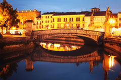 Bridge on Prato della Valle at dusk Stock Image