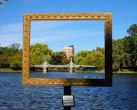 Bridge at the Public Gardens, Boston, MA. Stock Images