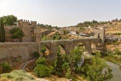 The bridge Puente de Alcantara over River Tajo Stock Image