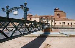 Bridge Puente de Santo Domingo in Malaga. With traditional architecture on background Stock Photos