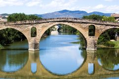 Bridge At Puente la Reina. Romanesque bridge at Puente la Reina, Spain royalty free stock photography