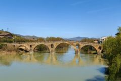 Bridge, Puente La Reina, Spain. Romanesque bridge in Puente La Reina, Navarre, Spain royalty free stock image