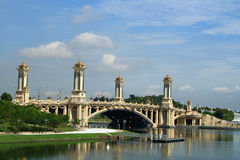 Bridge in Putrajaya. Bridge over the lake in Putrajaya, Malaysia Stock Images