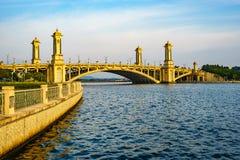 Bridge in Putrajaya, Malaysia. Beautiful view of Seri Gemilang Bridge located at Putrajaya, Malaysia Stock Image