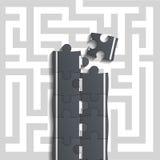 Bridge of puzzles through the maze Stock Photo
