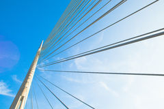 Bridge pylon Royalty Free Stock Photos
