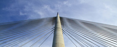 Bridge pylon Royalty Free Stock Images