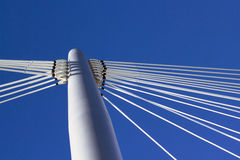 Bridge pylon and blue sky Stock Images