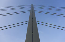 A bridge pylon in Dusseldorf in Germany Stock Photos
