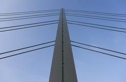A bridge pylon in Dusseldorf in Germany Stock Photos
