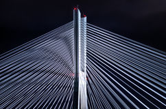 Bridge pylon during the night Royalty Free Stock Image