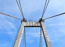 Bridge pylon Royalty Free Stock Photography
