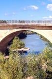 Bridge in the Pyrenees mountains Stock Photos