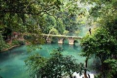 Bridge QiKong, Li Bo, GuiZhou, China Royalty Free Stock Images