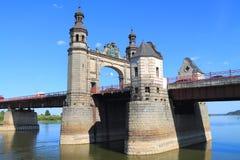The bridge of the queen Louise through the river Neman Royalty Free Stock Photo