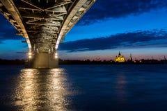 Bridge on a quiet night, bottom view Stock Photography