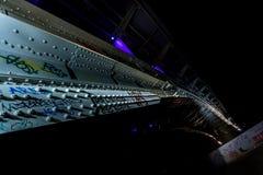 Bridge on a quiet night, bottom view Stock Images