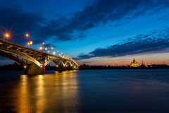 Bridge on a quiet night Royalty Free Stock Photo