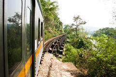 Bridge rail. Death Railway in Thailand route Royalty Free Stock Photos
