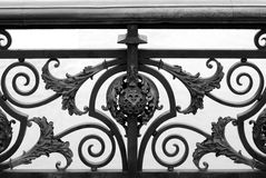 Bridge Railing Design, Paris, Royalty Free Stock Photo