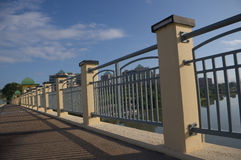 Bridge Railing Perspective Royalty Free Stock Photo