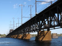 bridge railroad susquehanna Royaltyfri Bild
