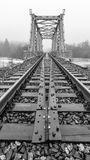 The bridge and rails to the infinity Stock Images
