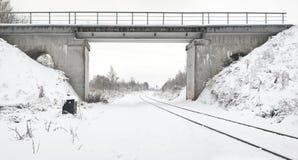 Bridge through the railway Royalty Free Stock Photography
