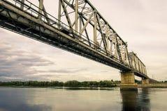 Bridge. Railway bridge across the Agan river Stock Images