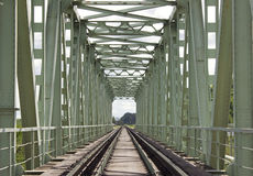 Bridge Railway front view Royalty Free Stock Images