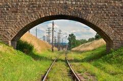 Bridge and railway Royalty Free Stock Photo